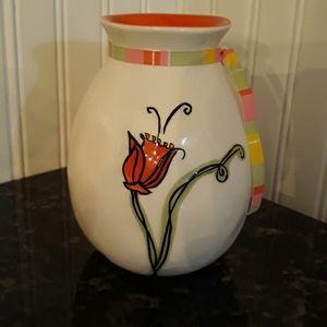 Starbucks hand painted vase from 2006